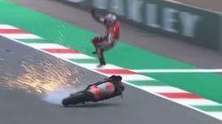 Βίντεο: Τρομακτικό ατύχημα στο MotoGP στην Ιταλία- αναβάτης έχασε τον έλεγχο στα 350 χλμ/