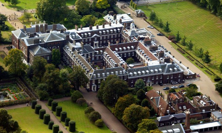An aerial view of Kensington Palace, taken in 2002.