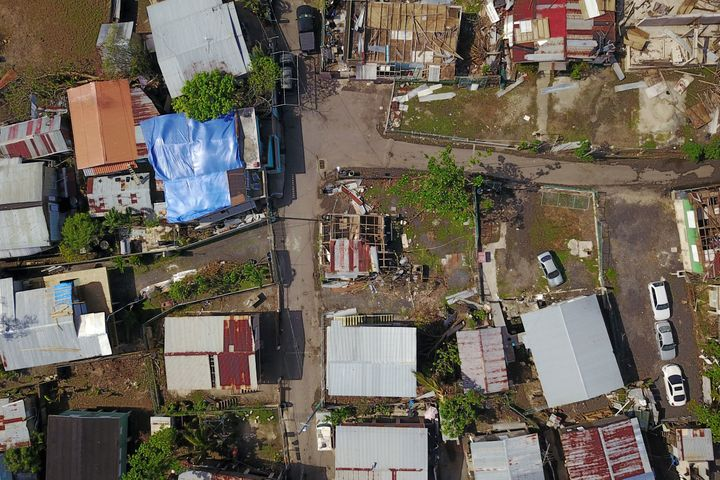 This was the neighborhood of Juana Matos in Catano, Puerto Rico, one month after Hurricane Maria hit.