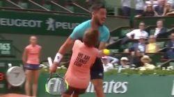 À Roland-Garros, la violente collision entre un ramasseur de balles et le tennisman Damir