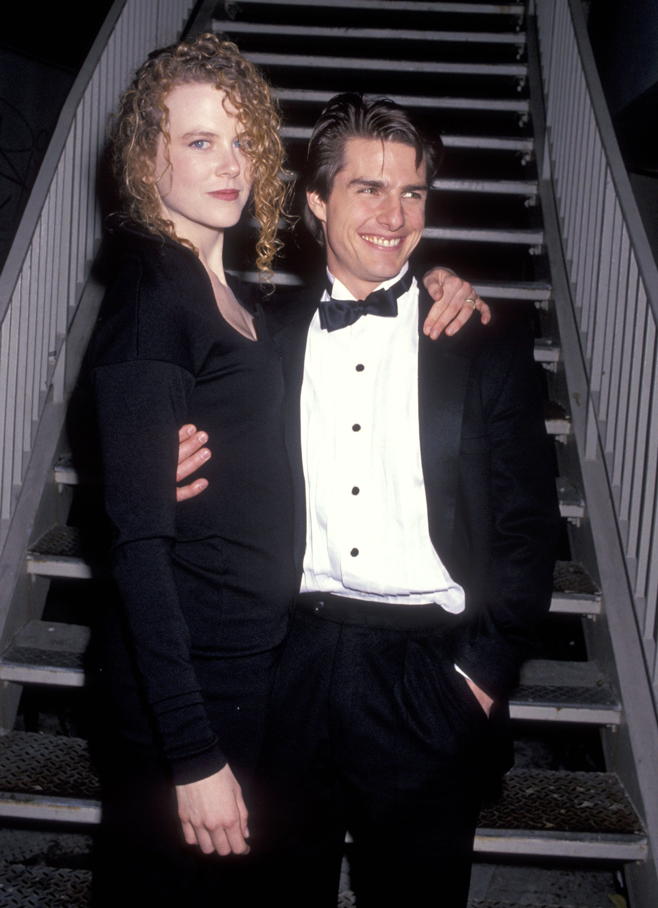 Kidman, pictured in 1991, was married to actor Tom Cruise when she experienced both pregnancy losses.