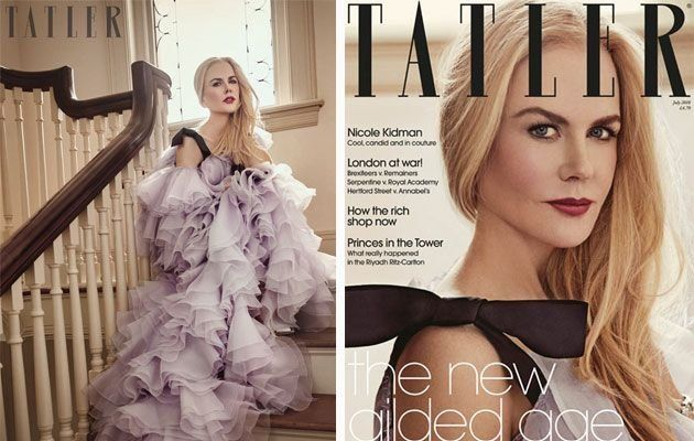 Kidman appears in the July issue of  Tatler.