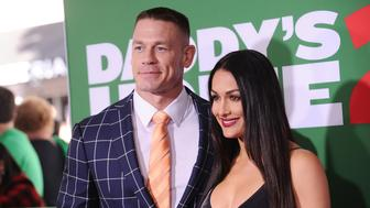 WESTWOOD, CA - NOVEMBER 05:  John Cena and Nikki Bella attend the premiere of 'Daddy's Home 2' at Regency Village Theatre on November 5, 2017 in Westwood, California.  (Photo by Jason LaVeris/FilmMagic)