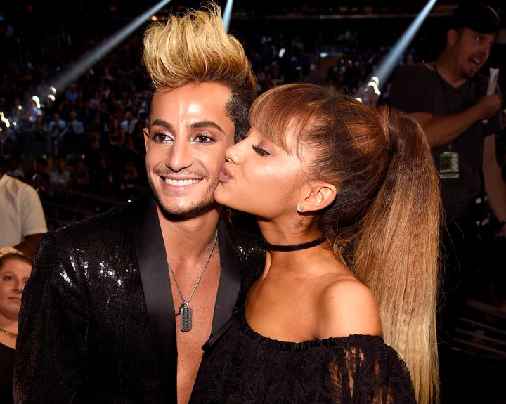 Frankie J. Grande and Ariana Grande appear during the 2016 MTV Video Music Awards