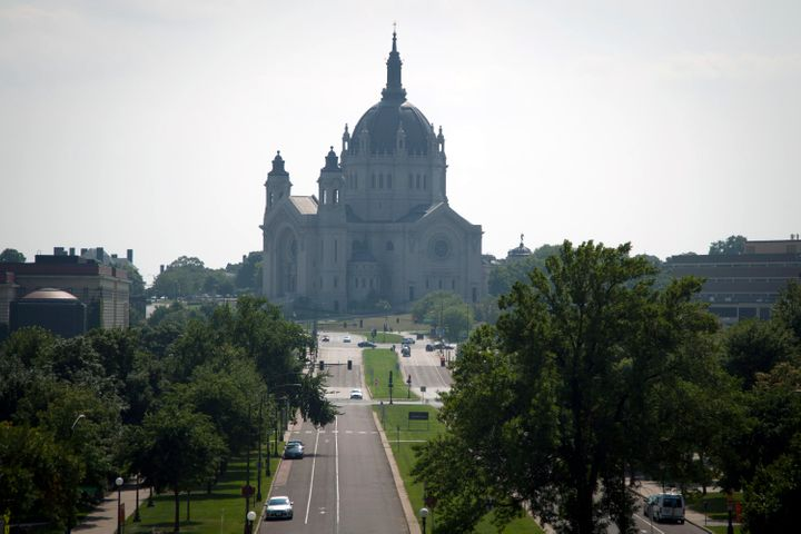 The Cathedral of Saint Paul sits atop Cathedral Hill in St. Paul, Minnesota.