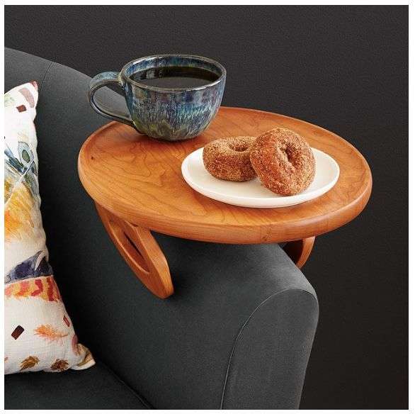 "What every day secretly wants and needs. Get it <a href=""https://www.uncommongoods.com/product/couch-arm-table"" target=""_blan"