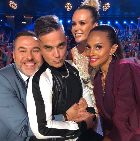 Yes, That Was Robbie Williams Misbehaving In The 'Britain's Got Talent'