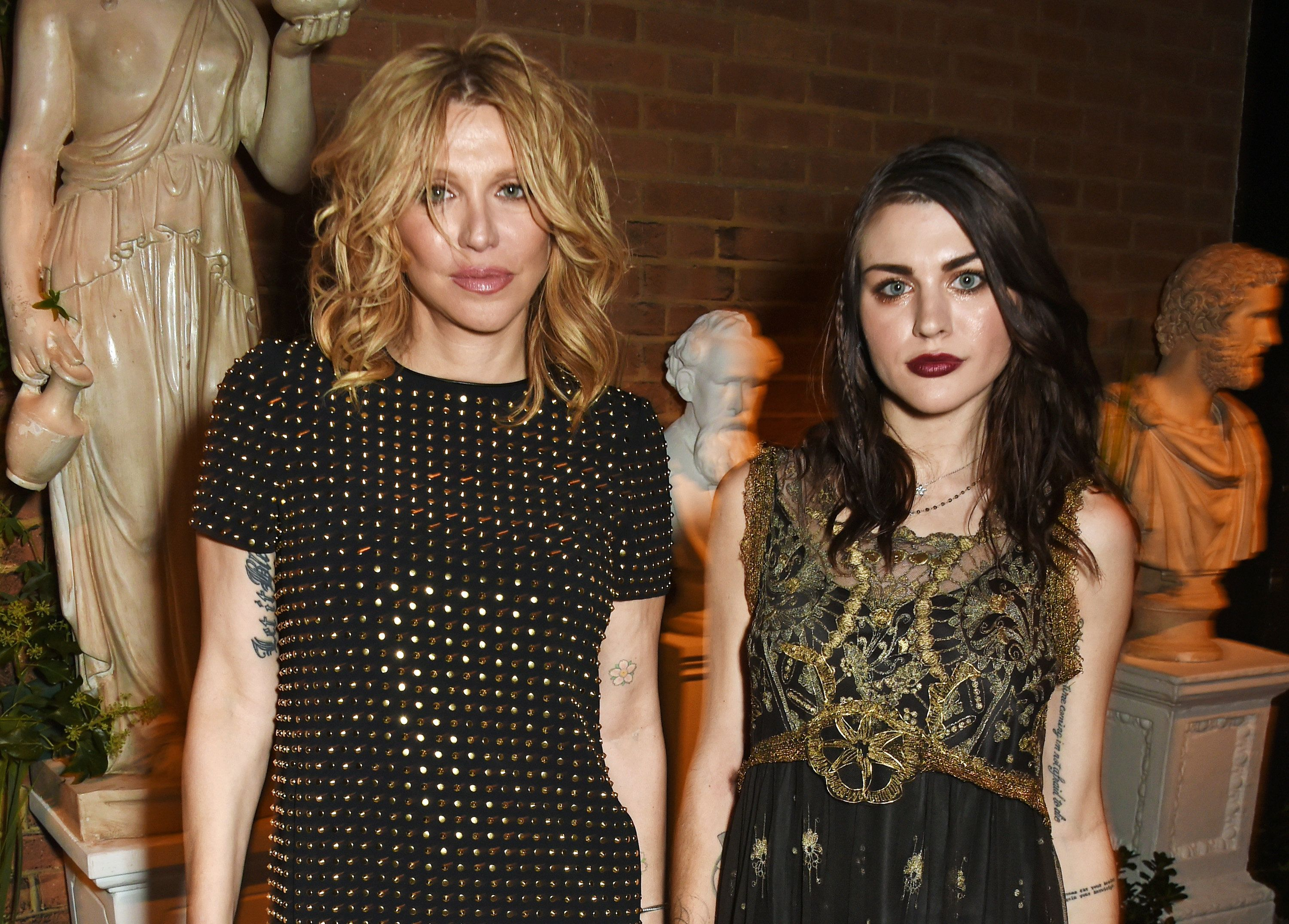 Courtney Love, left, with daughter Frances Bean Cobain in 2016.