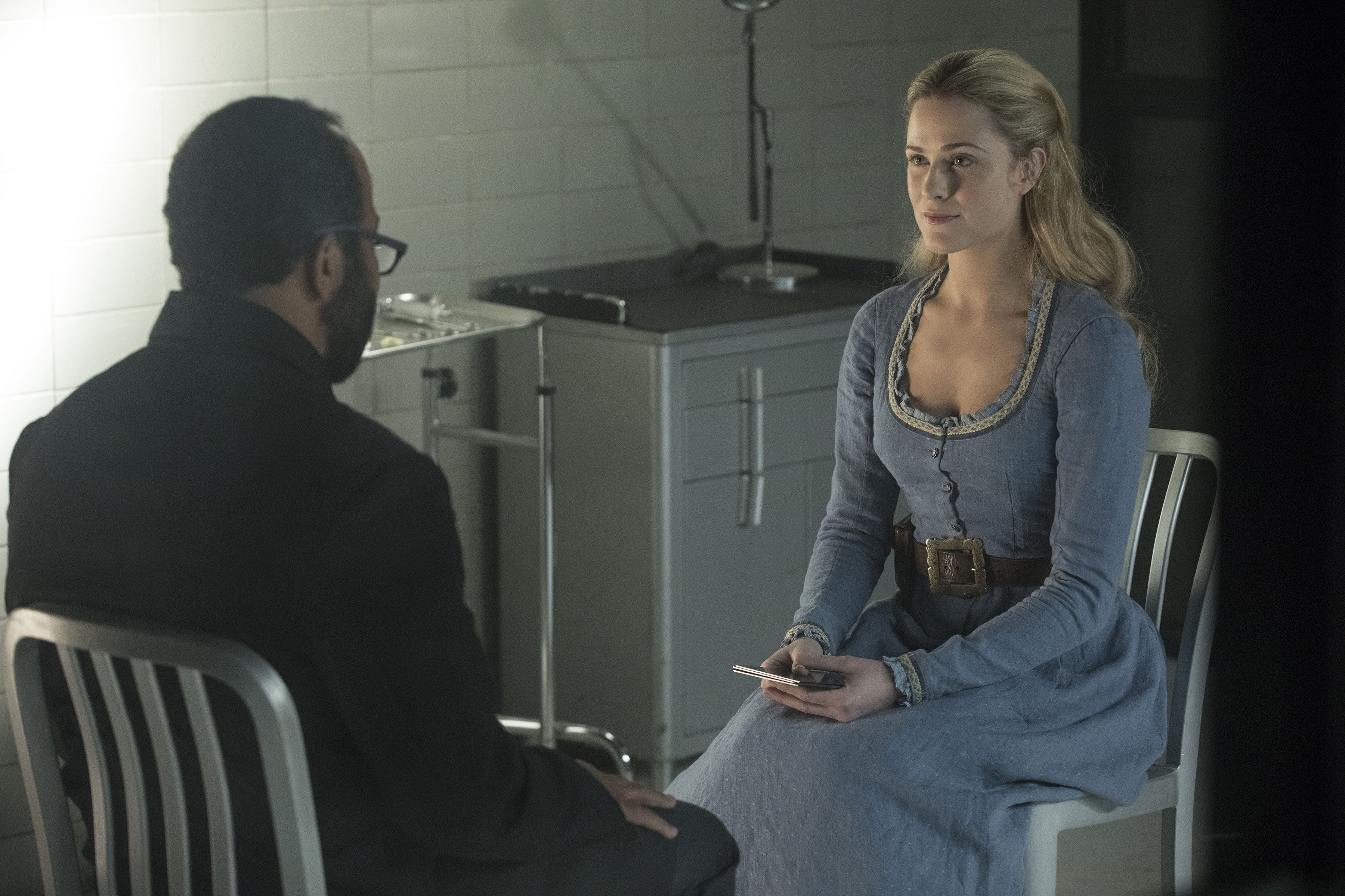 "Jeffrey Wright and Evan Rachel Wood in ""Westworld."""