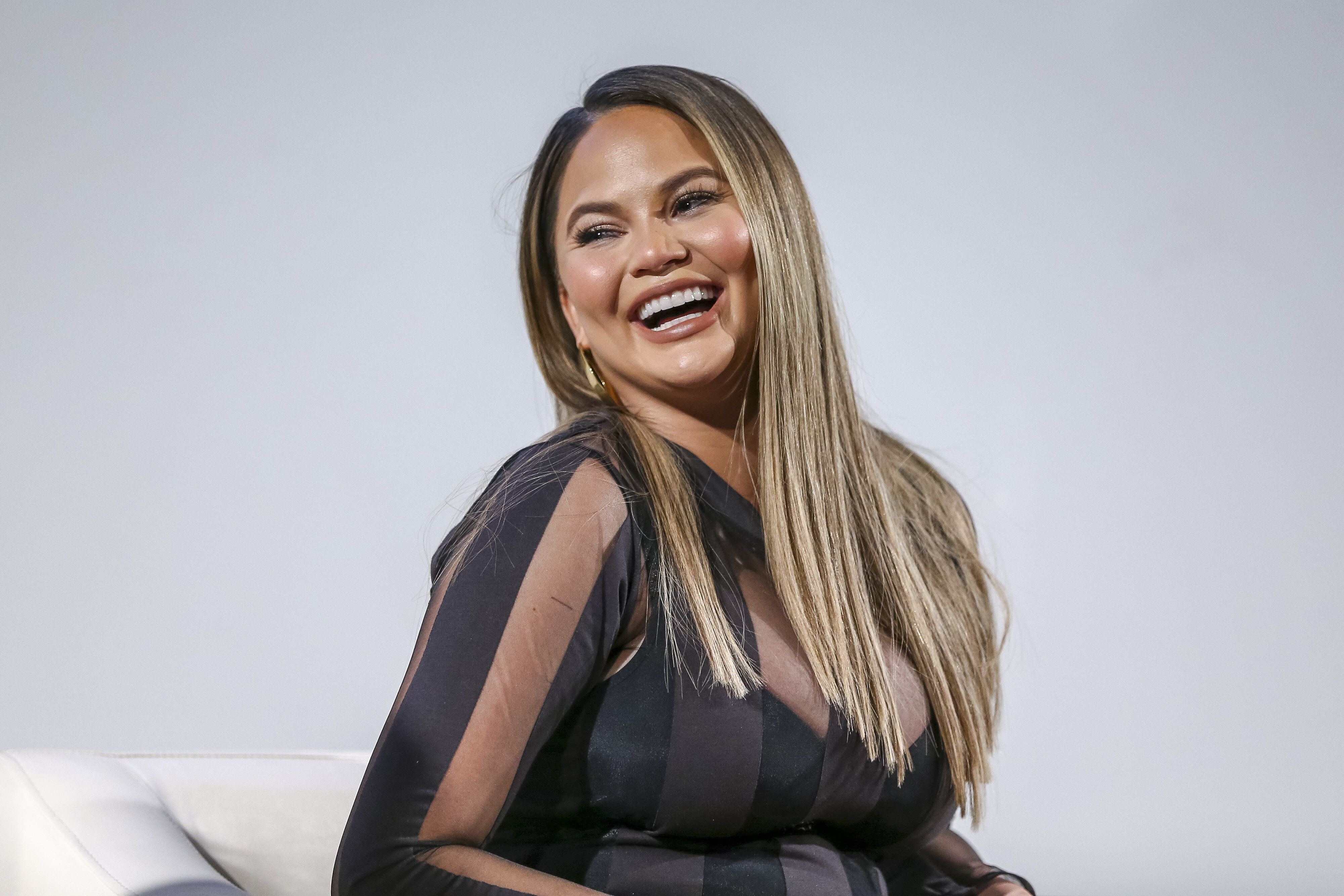 LOS ANGELES, CA - MAY 01:  Chrissy Teigen attends Lip Sync Battle FYC Event Screening and Reception at Paramount Studios on May 1, 2018 in Los Angeles, California.  (Photo by Rich Polk/Getty Images for Viacom)
