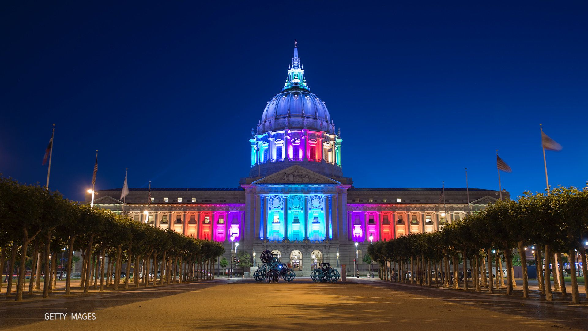 Several monuments light up for Pride each year