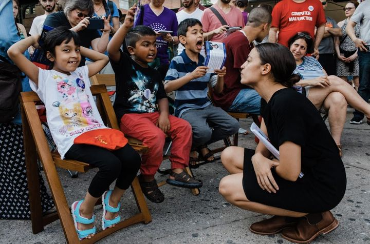 Alexandria Ocasio-Cortez hopes her campaign's on-the-ground efforts will help make up for the huge gap in fundraising wi