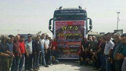 Lastwagenfahrer streiken landesweit im