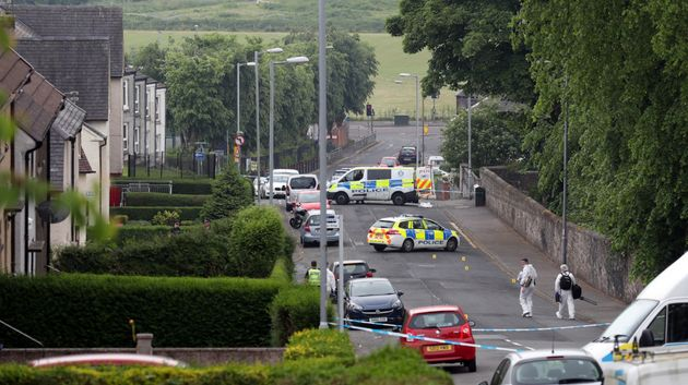 Two police officers were seriously injured at a house inInverclyde on Friday