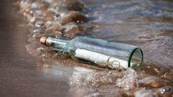 Un pêcheur marocain retrouve une bouteille à la mer jetée par une petite américaine... il y a trois