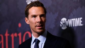 "Cast member Benedict Cumberbatch poses at the premiere of the television series ""Patrick Melrose"" in Los Angeles, California, U.S., April 25, 2018. REUTERS/Mario Anzuoni"