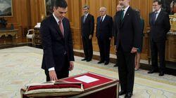 Ce détail a fait de la prestation de serment de Pedro Sanchez un jour historique en Espagne