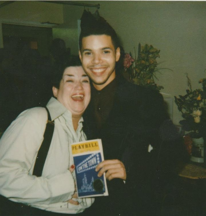 "DeLaria with Wilson Cruz at ""On The Town"" in 1998."