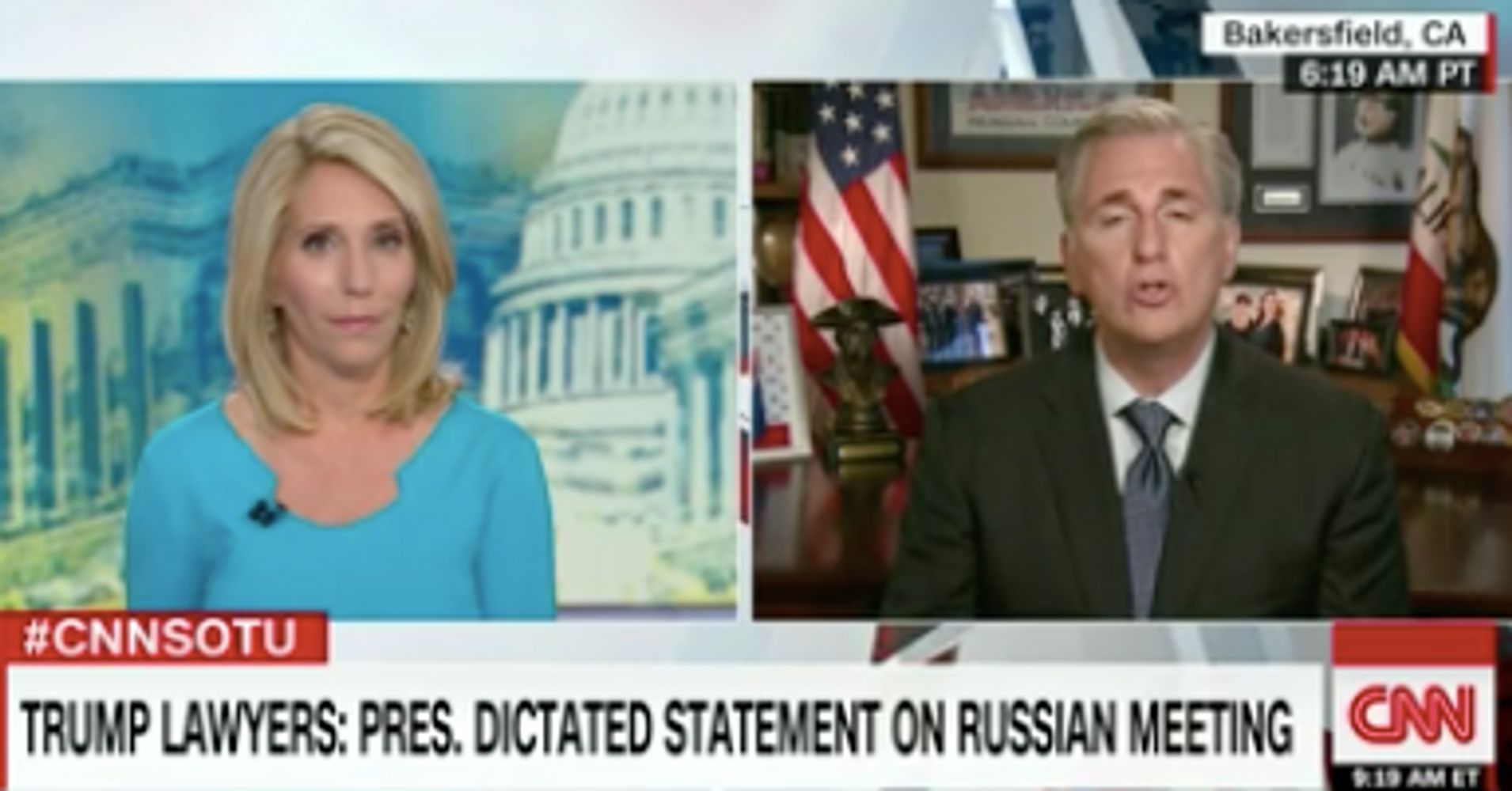 Kevin McCarthy Refuses To Answer CNN Question About White House 'Lies'