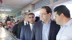 Visite inopinée de Youssef Chahed au marché municipal de l'Ariana
