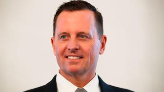 Newly accredited US Ambassador Richard Allen Grenell poses for photographers during an accreditation ceremony for new Ambassadors in Berlin, Germany, on May 08, 2018. (Photo by Odd ANDERSEN / AFP)        (Photo credit should read ODD ANDERSEN/AFP/Getty Images)