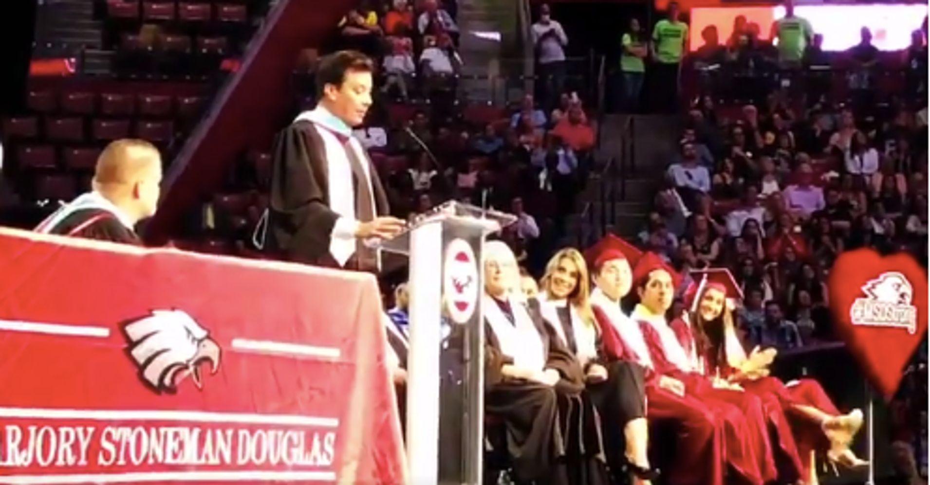 Jimmy Fallon Surprises Parkland Seniors At Graduation Ceremony