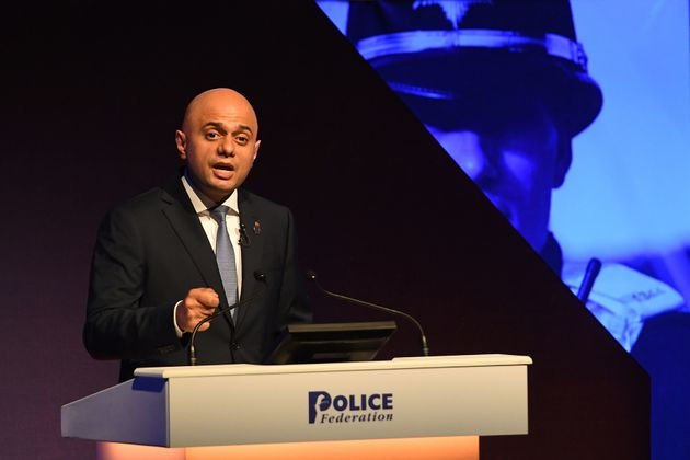 Home Secretary Sajid Javid has denied a fall in police numbers is to blame for the spike in violent crime