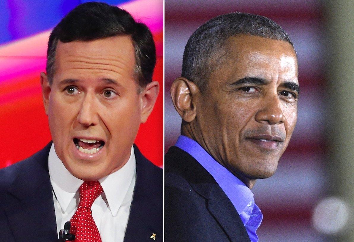 Rick Santorum Barack Obama