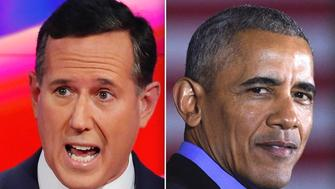 Rick Santorum Barack Obama