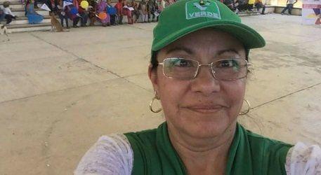 녹색환경당(PVEM) 소속으로 지자체 의원 후보로 나선 후아나 이라이스