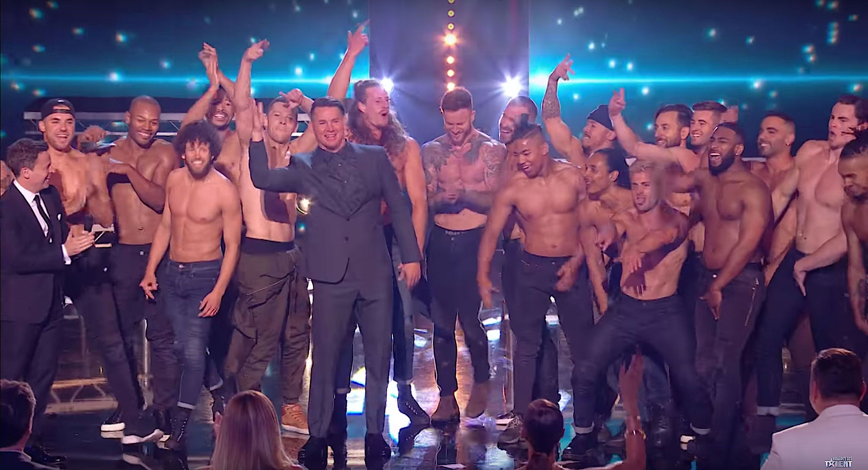 Channing Tatum surprised the audience on Britains Got Talent after Magic Mike Live performed