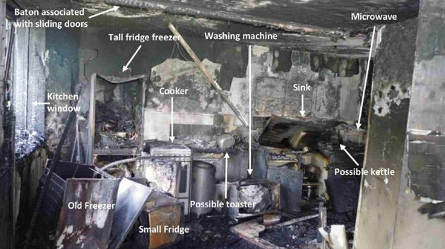 New Photos Reveal The Charred Remains Of The Flat Where The Grenfell Tower Blaze