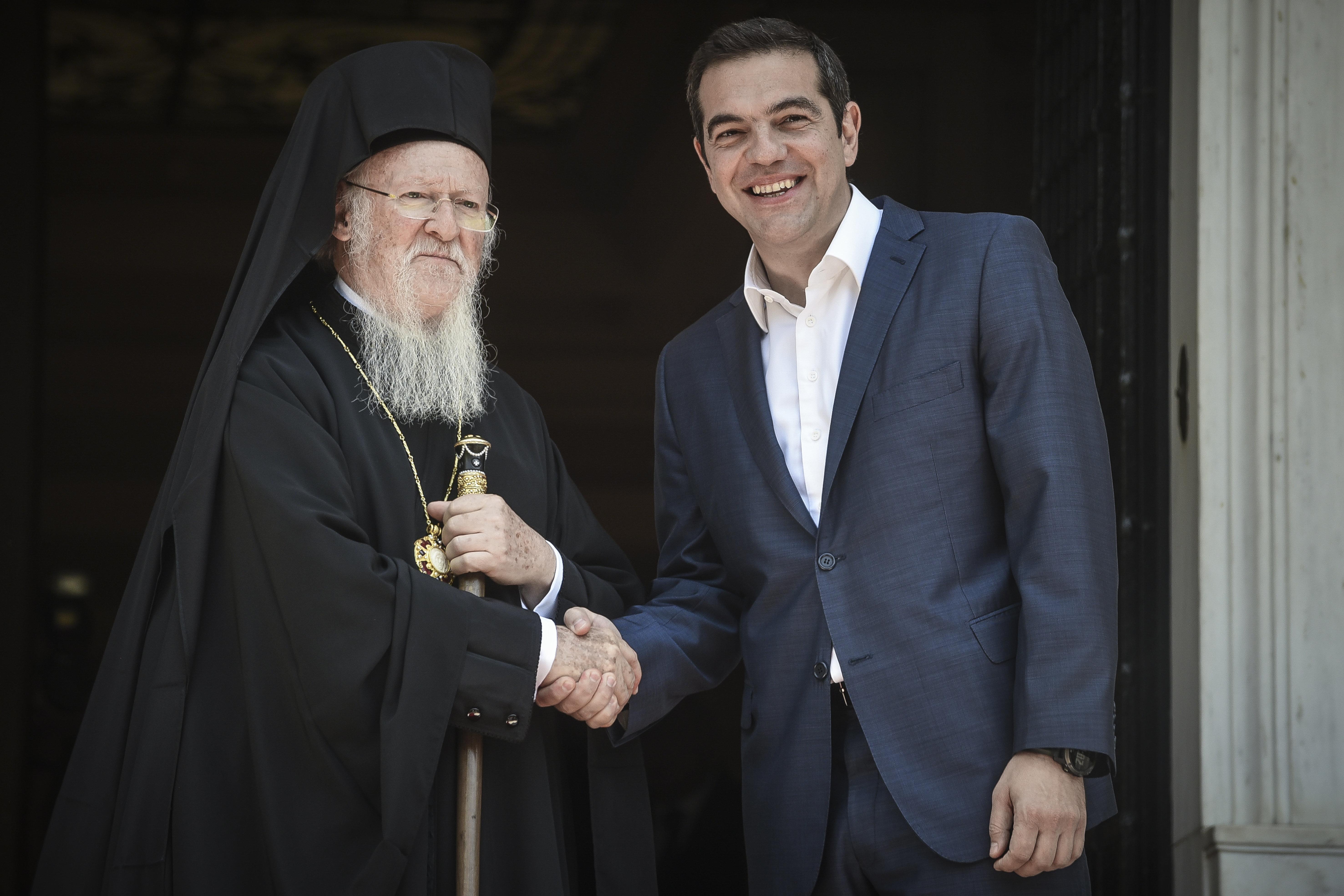 Η επίσκεψη του Οικουμενικού Πατριάρχη Βαρθολομαίου στην Αθήνα σε εικόνες. Η συνάντηση με τον Τσίπρα και οι