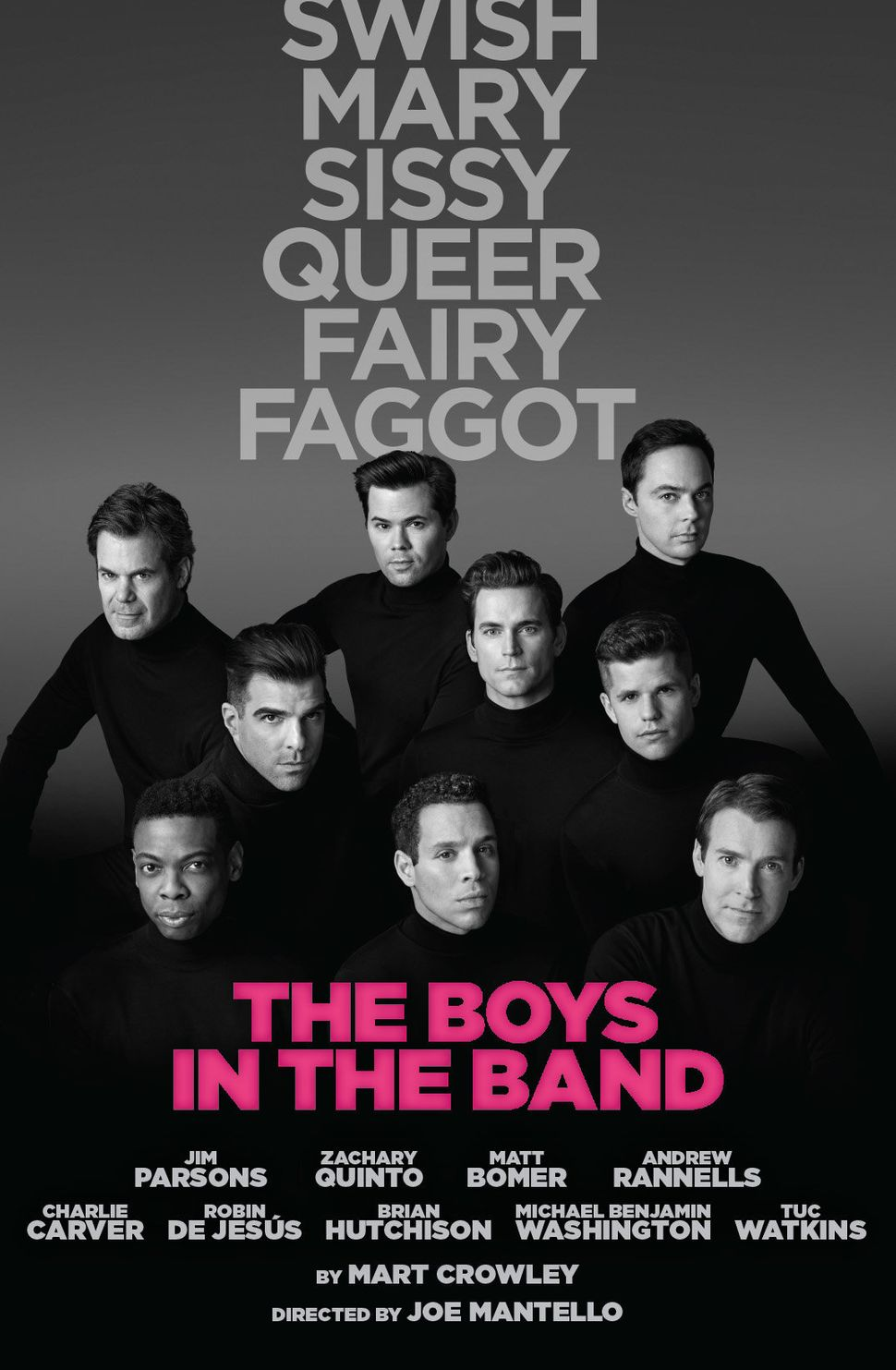"A poster for ""The Boys in the Band."""