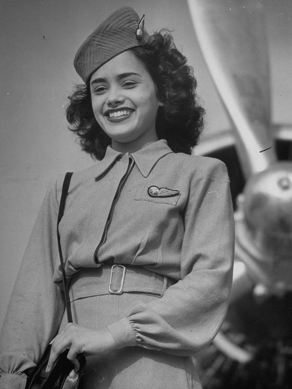 An Air India flight attendant, circa 1946.