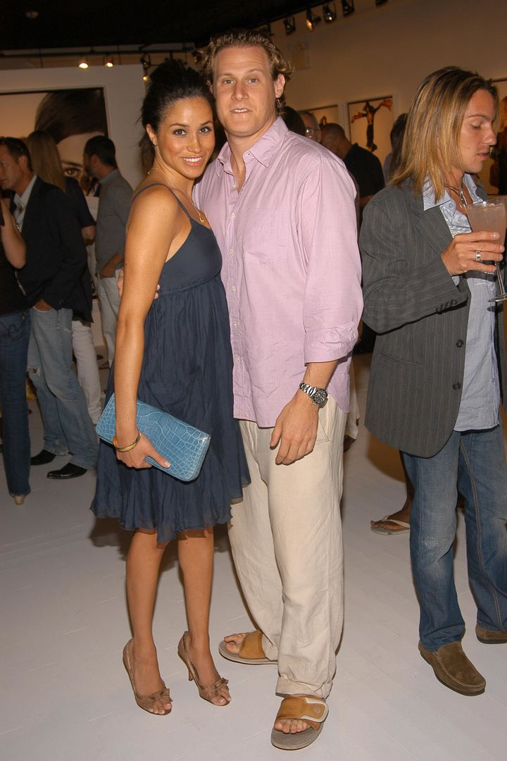 Markle and Engelson at the Coach Legacy Photo Exhibit on Aug. 26, 2006, in East Hampton, NY.