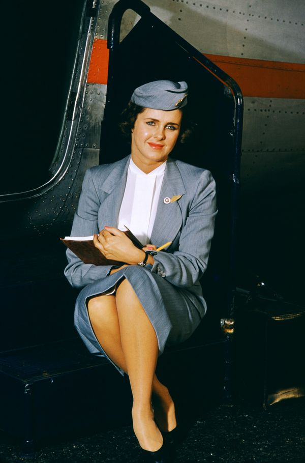Sue Kehner, a flight attendant for National Airlines, circa 1958 in Miami.