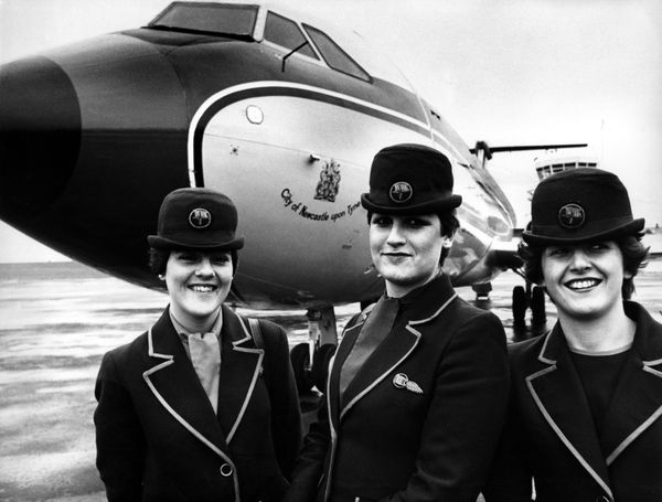 Dan-Air stewardesses in 1976.