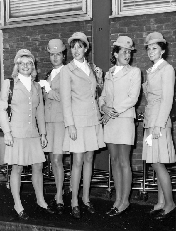 Pan-Am World Airways stewardesses in 1972.