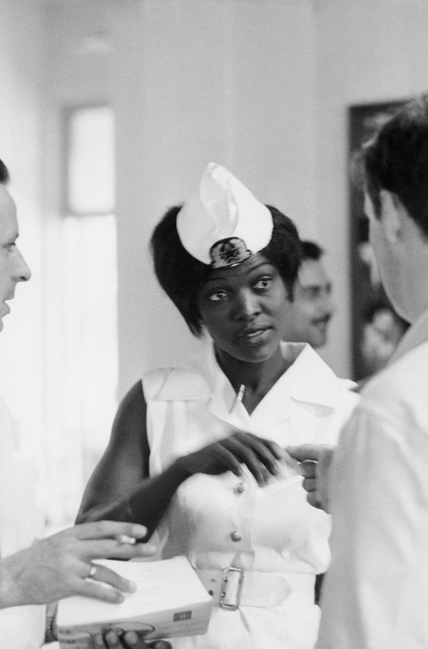 A South African stewardess in 1960.