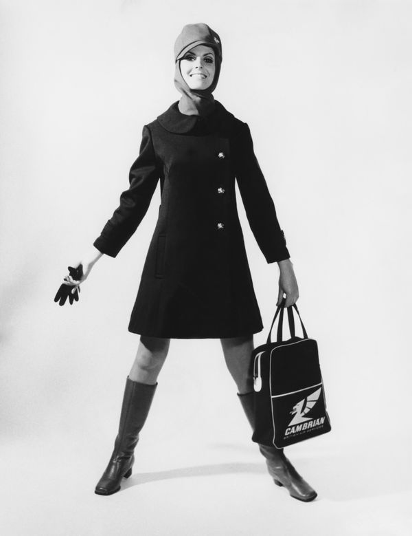 A Cambrian Air Services flight attendant uniform in 1970.