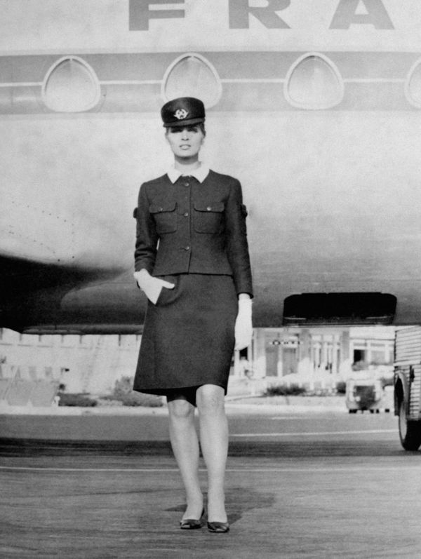 Balenciaga designed Air France crew uniforms that debuted in 1969.