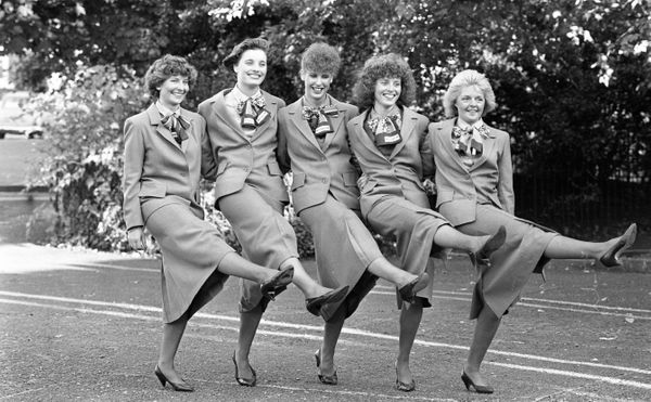 Aer Lingus air hostesses in Dublin in 1988.