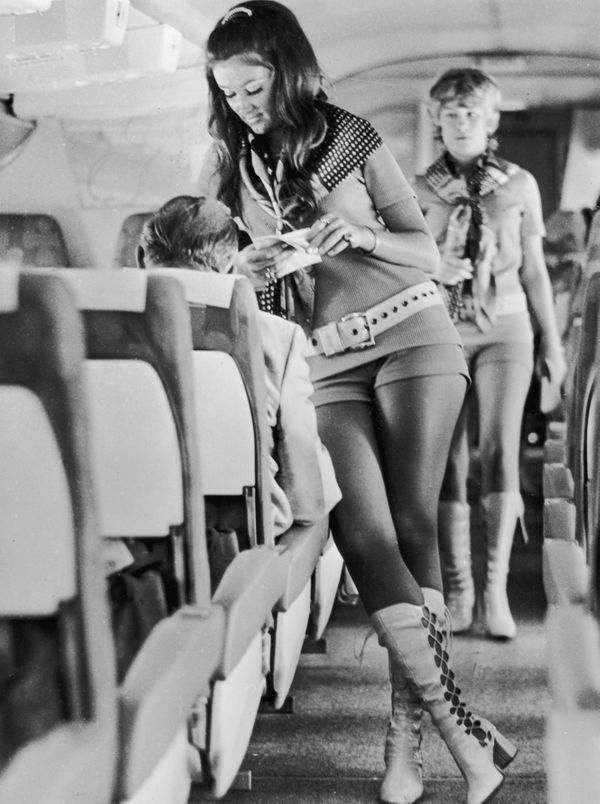 Stewardesses working for Southwest Airlines in 1972, when the company followed the dictum that sex sells seats.