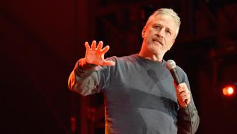 SAN FRANCISCO, CA - JUNE 03:  Jon Stewart performs on the Colossal Stage during Clusterfest at Civic Center Plaza and The Bill Graham Civic Auditorium on June 3, 2018 in San Francisco, California.  (Photo by Jeff Kravitz/FilmMagic)