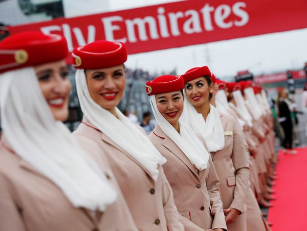 Emirates cabin attendants in 2016.