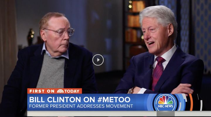 "Bill Clinton, arms folded defensively, with James Patterson on the ""Today"" show Monday morning."