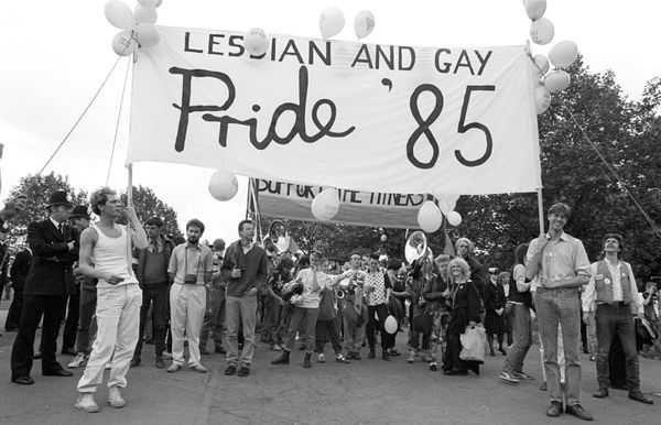 Lesbian and gay Pride in London, 1985.
