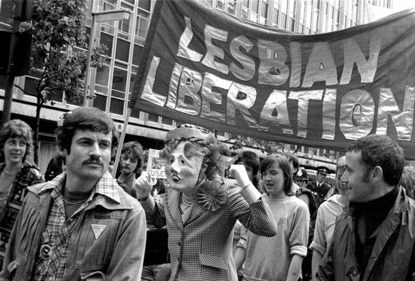 A lesbian and gay Pride in London,1980.
