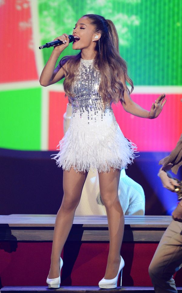 """Performingat the taping of """"A Very Grammy Christmas"""" at the Shrine Auditorium in Los Angeles."""